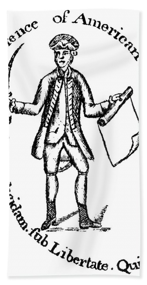 1775 Hand Towel featuring the photograph Continental Soldier by Granger
