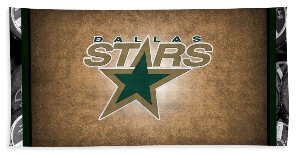 Stars Bath Sheet featuring the photograph Dallas Stars by Joe Hamilton