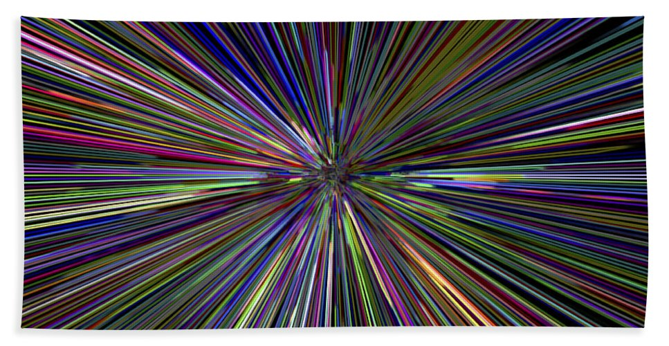 3d Hand Towel featuring the digital art Digital Abstract by David Pyatt