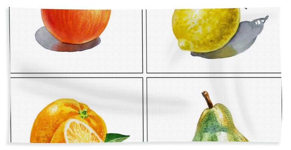 Apple Hand Towel featuring the painting Farmers Market Delight by Irina Sztukowski