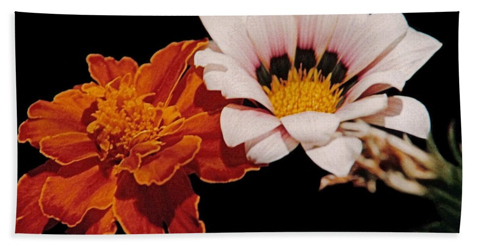 Original Hand Towel featuring the photograph Flowers by J D Owen