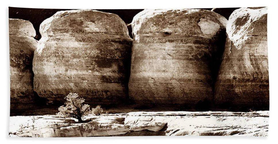 Geology Bath Sheet featuring the photograph Four Boulders by Marilyn Hunt