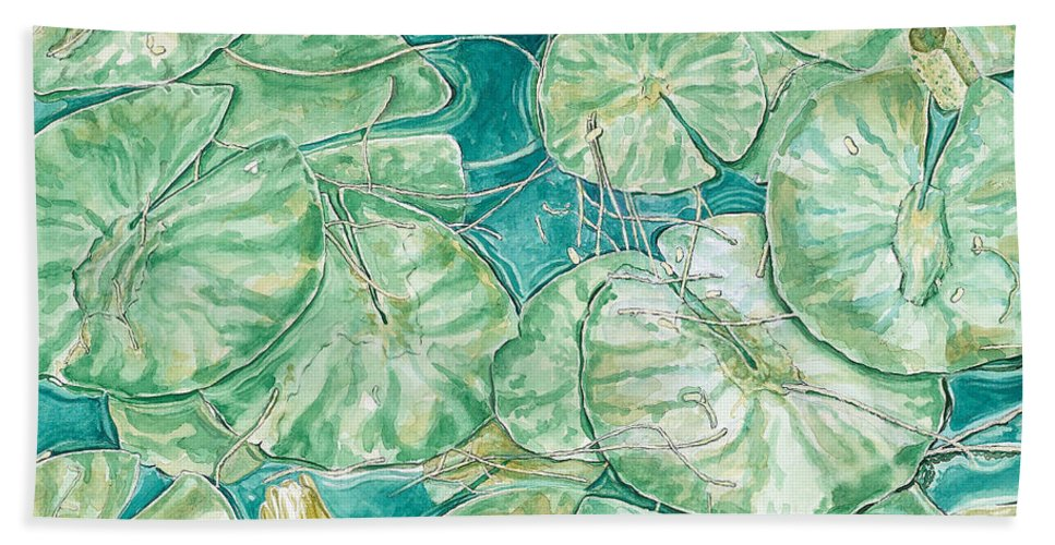 Waterscape Hand Towel featuring the painting Gentle Comfort by John Wilson