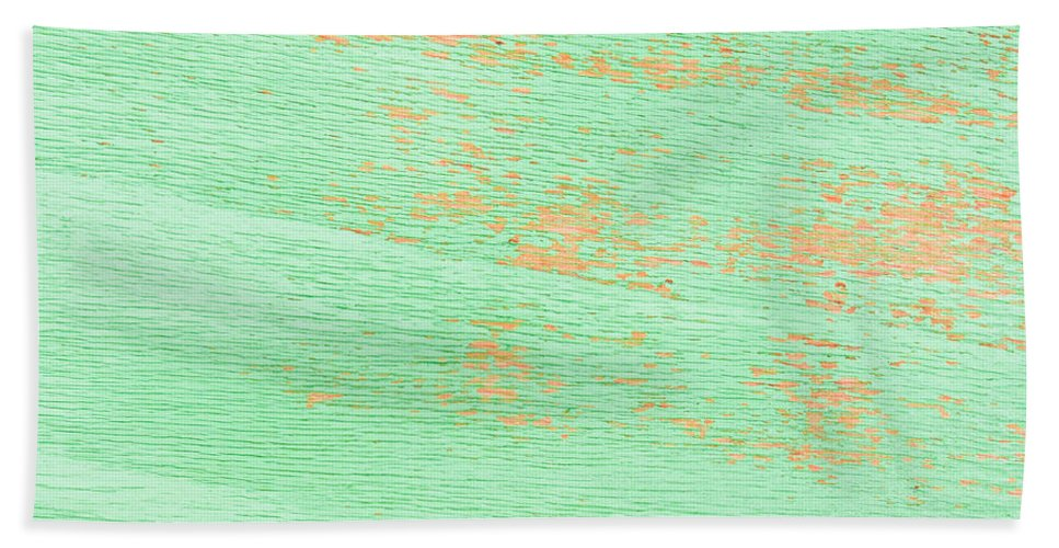 Aged Bath Sheet featuring the photograph Green Wood by Tom Gowanlock