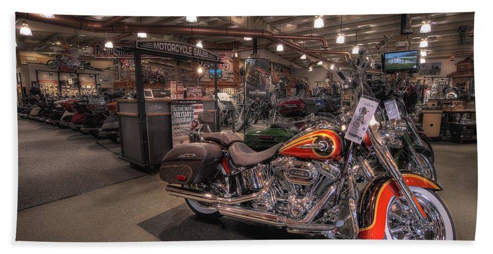 Harley Davidson Bath Sheet featuring the photograph Harley Davidson by David B Kawchak Custom Classic Photography