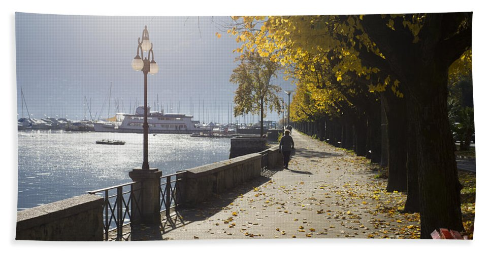 Street Hand Towel featuring the photograph Lakefront by Mats Silvan