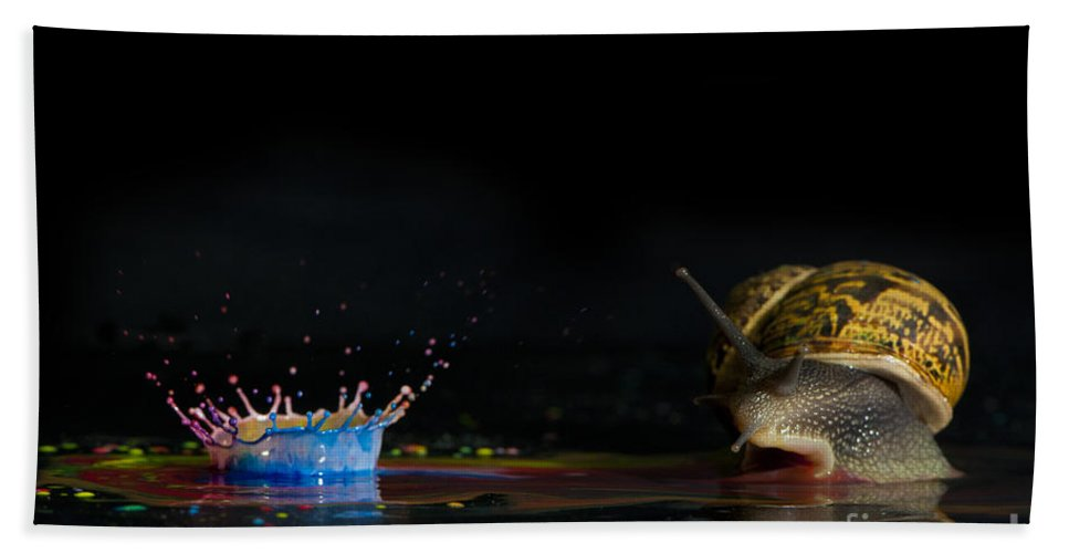 Creativity Hand Towel featuring the photograph Liquid Coronet by Guy Viner
