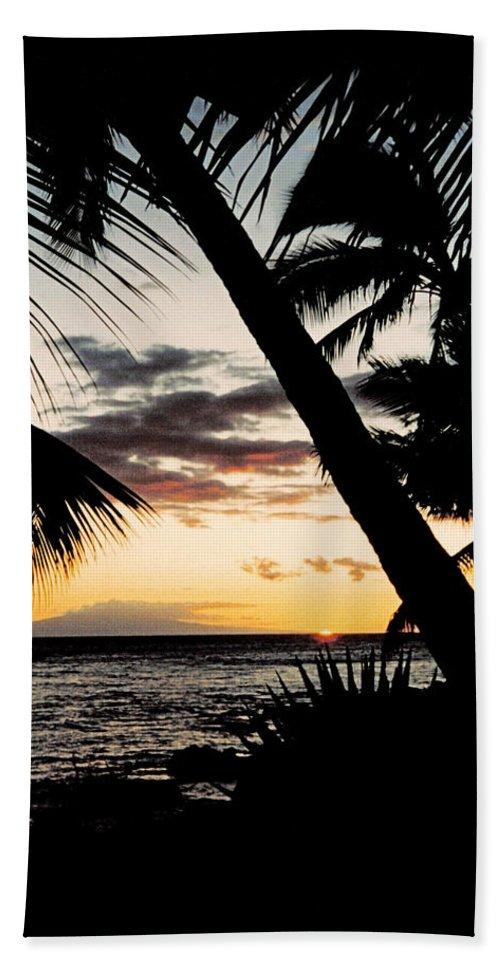 Dusk Hand Towel featuring the photograph Maui Sunset by J D Owen