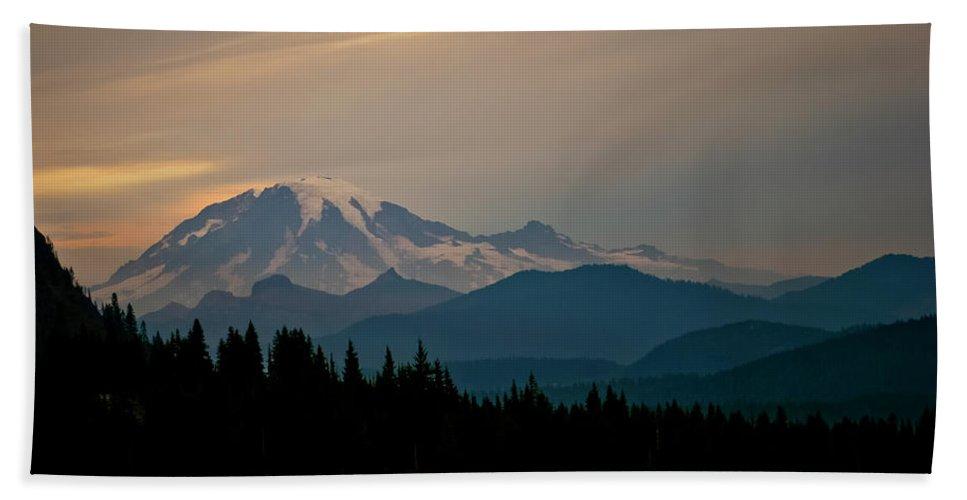 Mt Rainier Hand Towel featuring the photograph Mt Rainier by Albert Seger