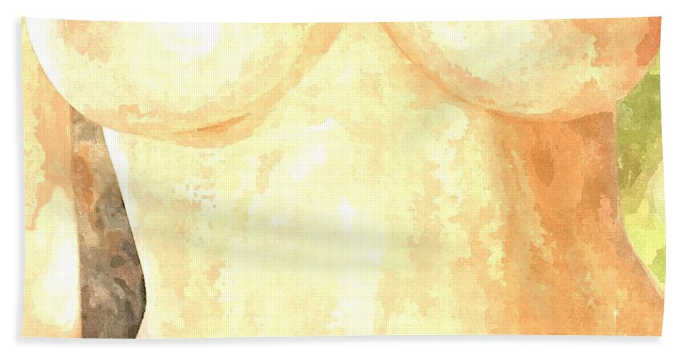 Nude Woman Bath Sheet featuring the painting Nude Women by Snowflake Obsidian