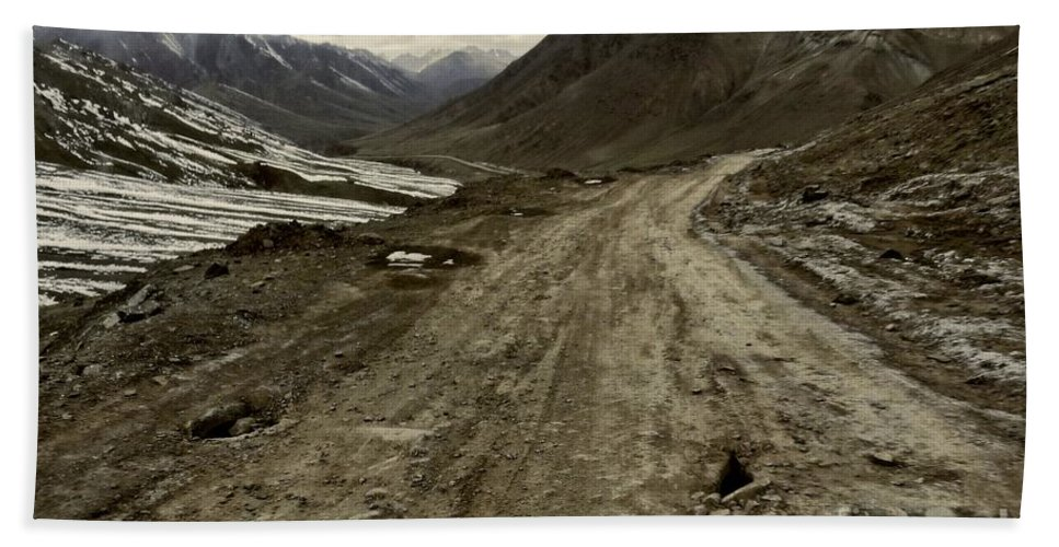 Bath Sheet featuring the photograph Pamir Highway by Karla Weber