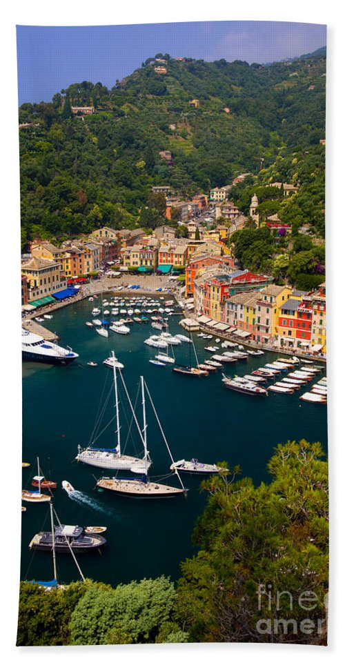 Portofino Bath Sheet featuring the photograph Portofino by Brian Jannsen