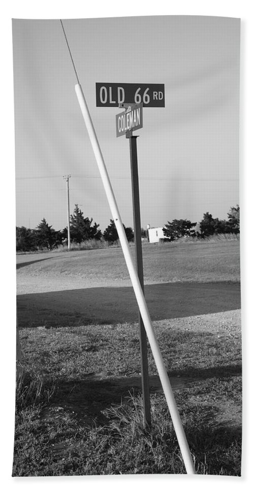 66 Hand Towel featuring the photograph Route 66 - Oklahoma by Frank Romeo