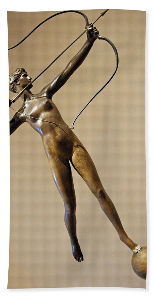 Diana Hand Towel featuring the photograph Saint Gaudens' Diana Of The Tower by Cora Wandel