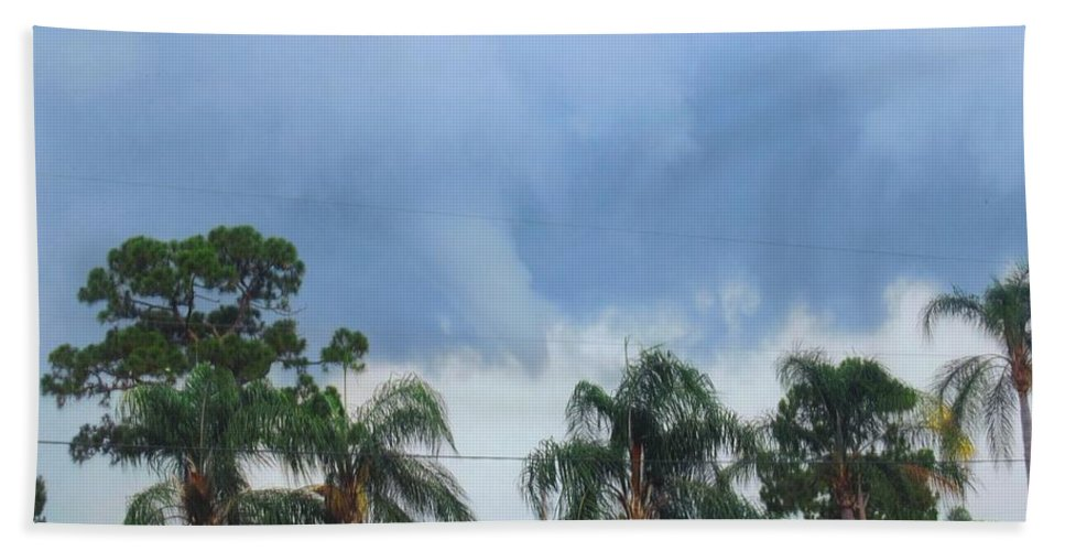 Tornado Forming Bath Sheet featuring the photograph Skyscape Tornado Forming by Robert Floyd