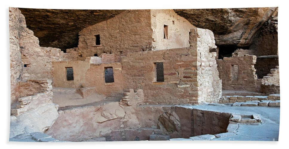 Colorado Hand Towel featuring the photograph Spruce Tree House Mesa Verde National Park by Fred Stearns