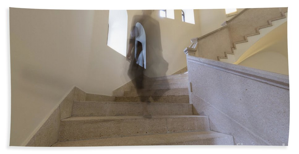 Stairs Bath Sheet featuring the photograph Stairs by Mats Silvan