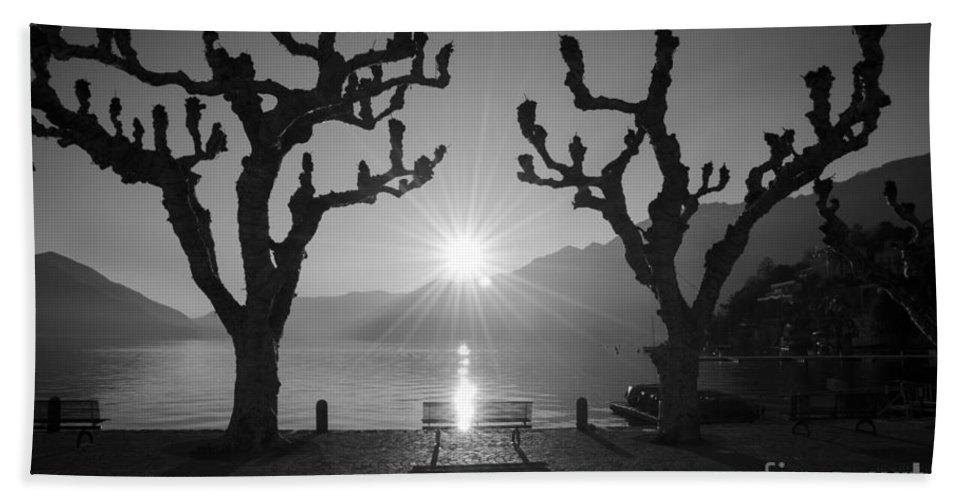 Sun Hand Towel featuring the photograph Sunset by Mats Silvan