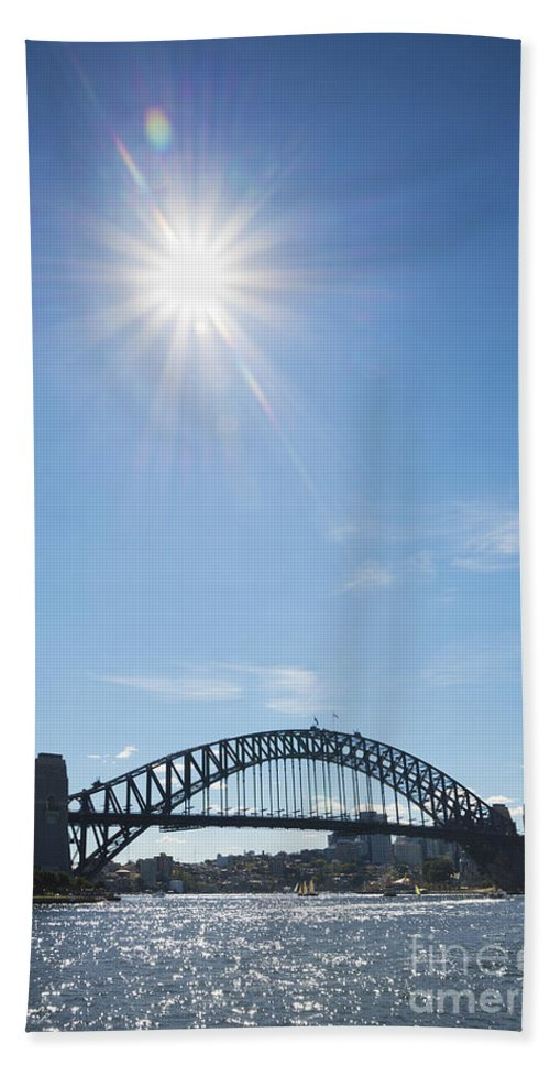 Architecture Bath Sheet featuring the photograph Sydney Harbour Bridge In Australia by Jacek Malipan
