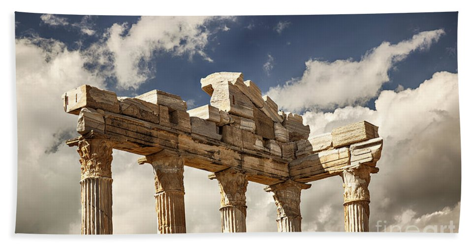 Old Hand Towel featuring the photograph Temple Of Apollo by Sophie McAulay