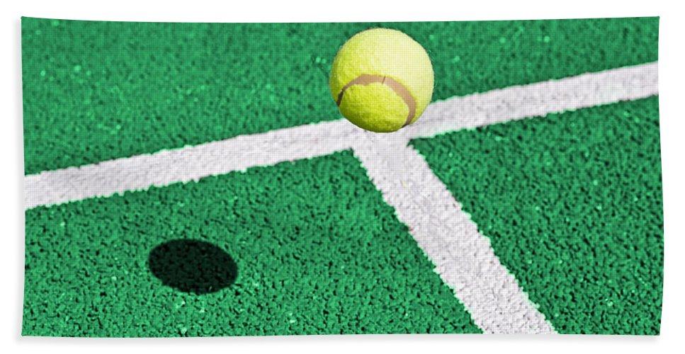 Tennis Bath Sheet featuring the photograph Tennis Ball by Paulo Goncalves