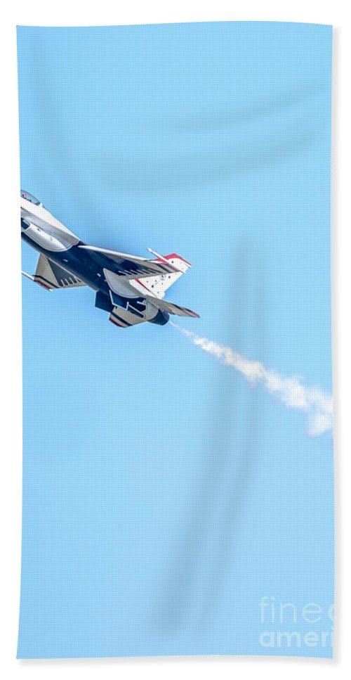 Thunderbirds Hand Towel featuring the photograph Thunderbird by Amel Dizdarevic