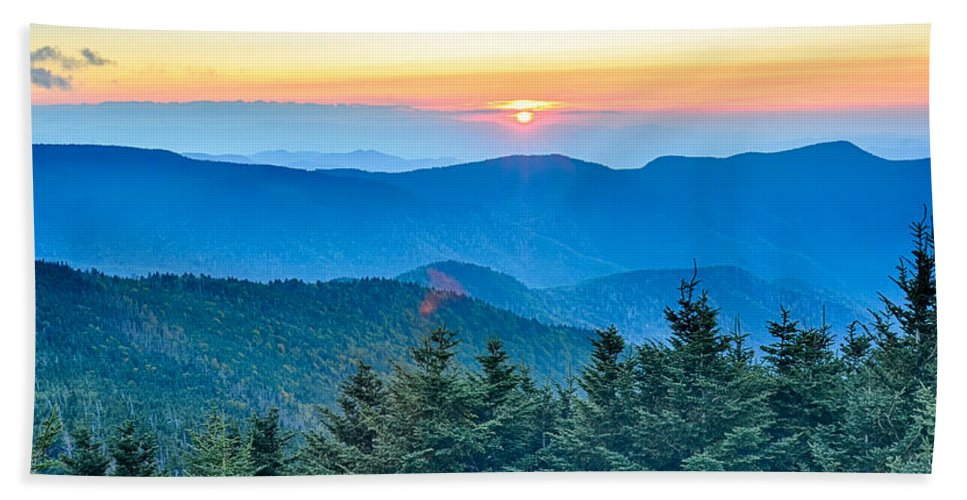 State Bath Sheet featuring the photograph Top Of Mount Mitchell Before Sunset by Alex Grichenko