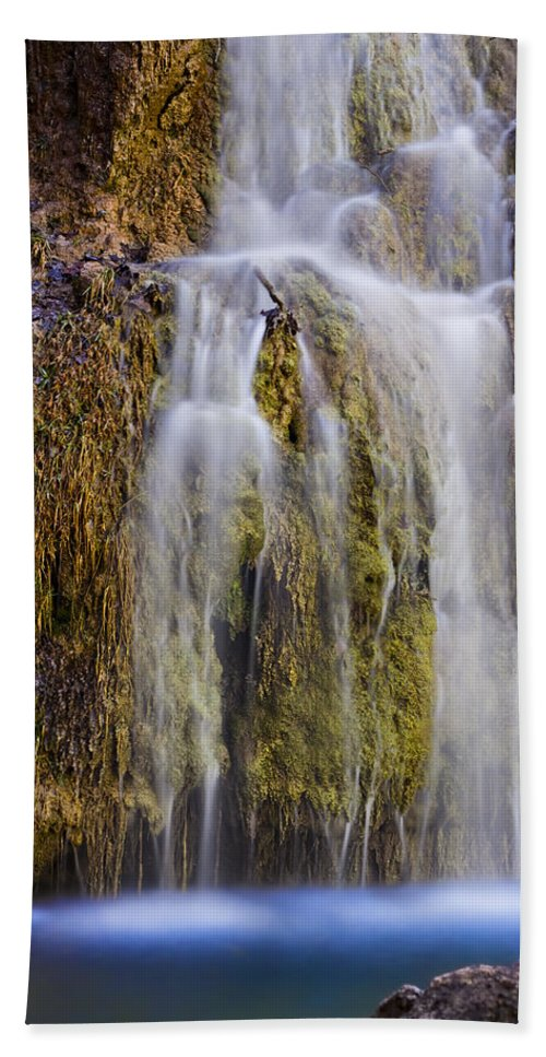 Nature Bath Sheet featuring the photograph Turner Falls by Ricky Barnard