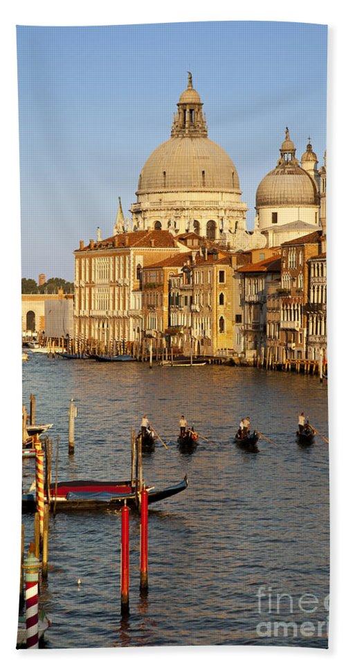 Santa Maria Bath Sheet featuring the photograph Venice Grand Canal by Brian Jannsen