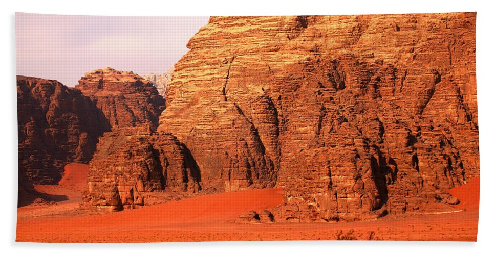 Adventure Bath Towel featuring the photograph Wadi Rum Desert, Jordan by David Santiago Garcia