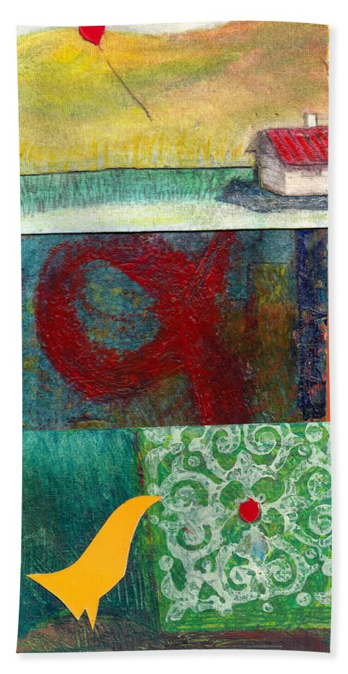 House Hand Towel featuring the painting 3 Way 2 by James Raynor