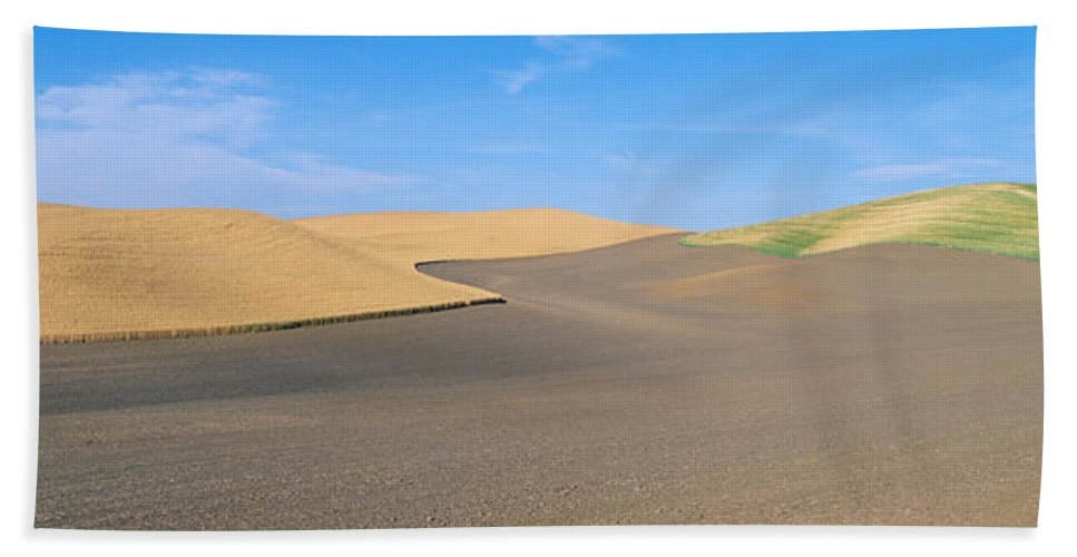 Photography Bath Sheet featuring the photograph Wheat Fields, S.e. Washington by Panoramic Images