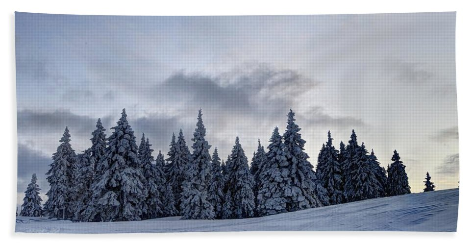 Adventure Hand Towel featuring the photograph Winter by Ivan Slosar
