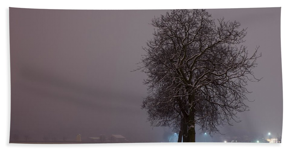 Winter Road Hand Towel featuring the photograph Winter Road by Mats Silvan