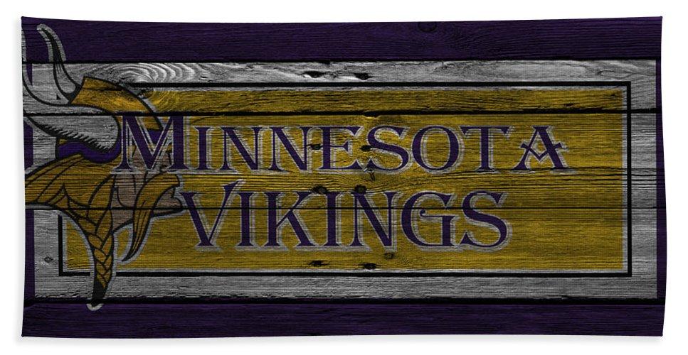 Vikings Hand Towel featuring the photograph Minnesota Vikings by Joe Hamilton