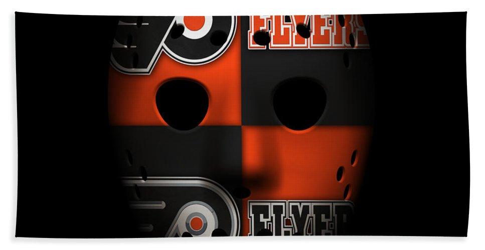 Flyers Hand Towel featuring the photograph Philadelphia Flyers by Joe Hamilton