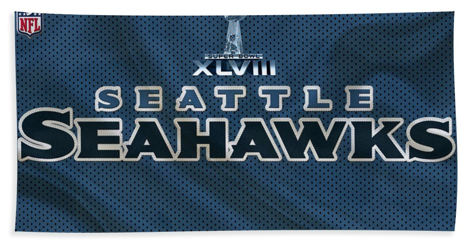 Seahawks Hand Towel featuring the photograph Seattle Seahawks by Joe Hamilton