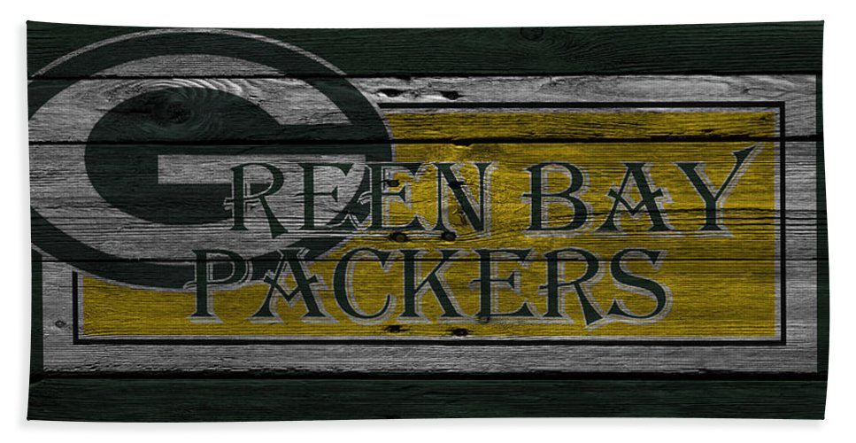 Packers Hand Towel featuring the photograph Green Bay Packers by Joe Hamilton