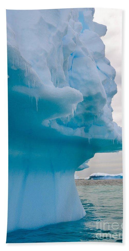 Nature Bath Sheet featuring the photograph Iceberg, Antarctica by John Shaw