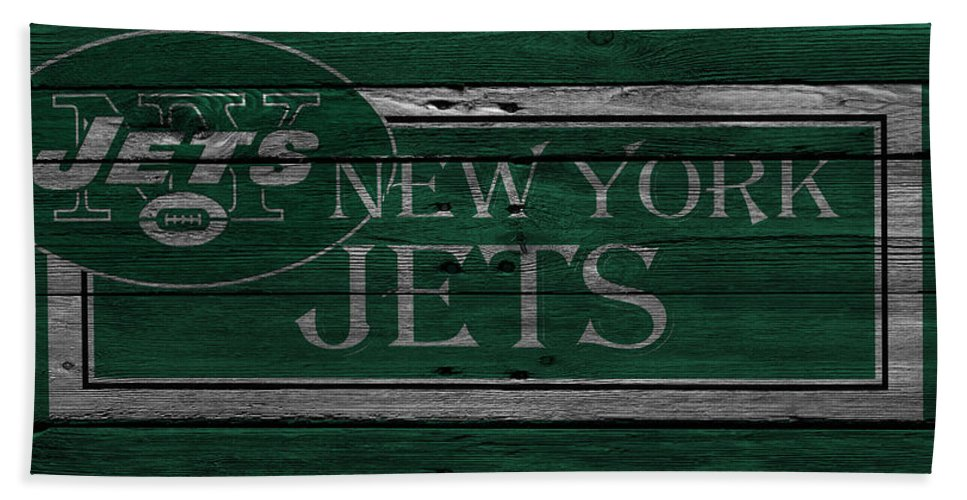 Jets Hand Towel featuring the photograph New York Jets by Joe Hamilton
