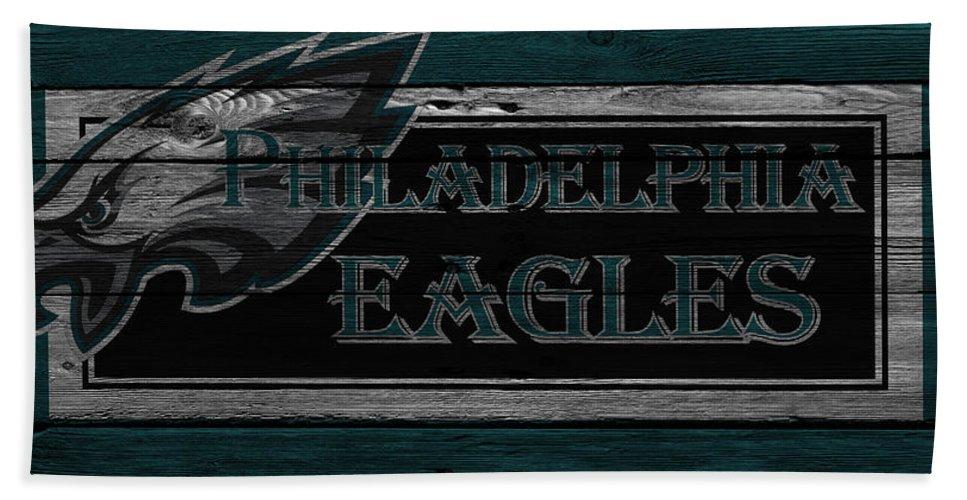 Eagles Hand Towel featuring the photograph Philadelphia Eagles by Joe Hamilton