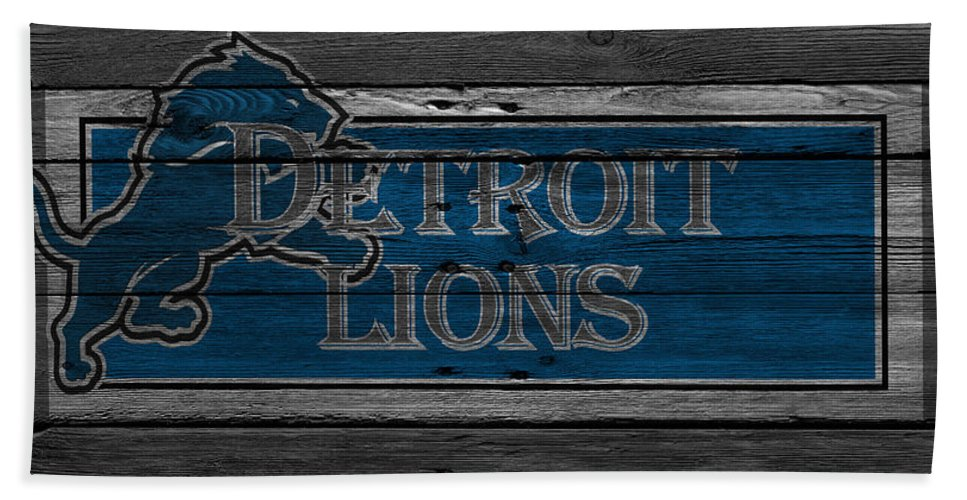 Lions Hand Towel featuring the photograph Detroit Lions by Joe Hamilton