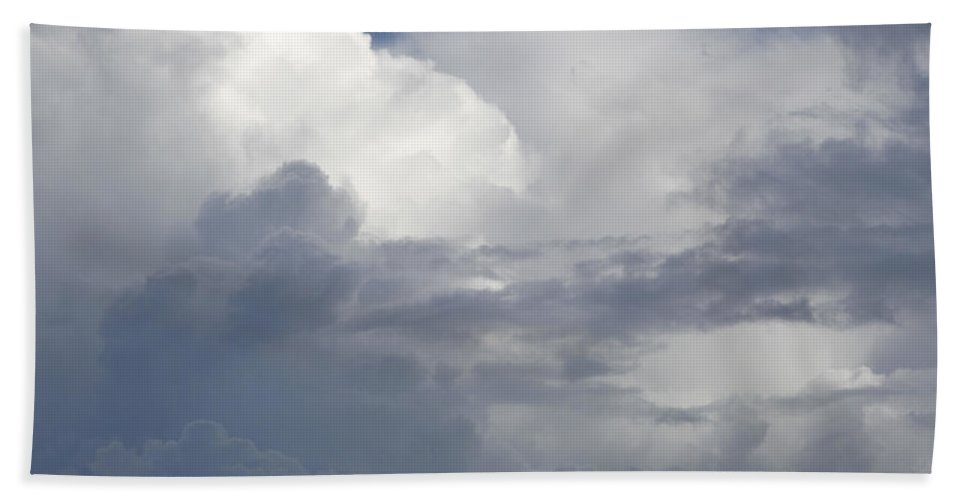 Dramatic Sky Hand Towel featuring the photograph Clouds by Les Cunliffe