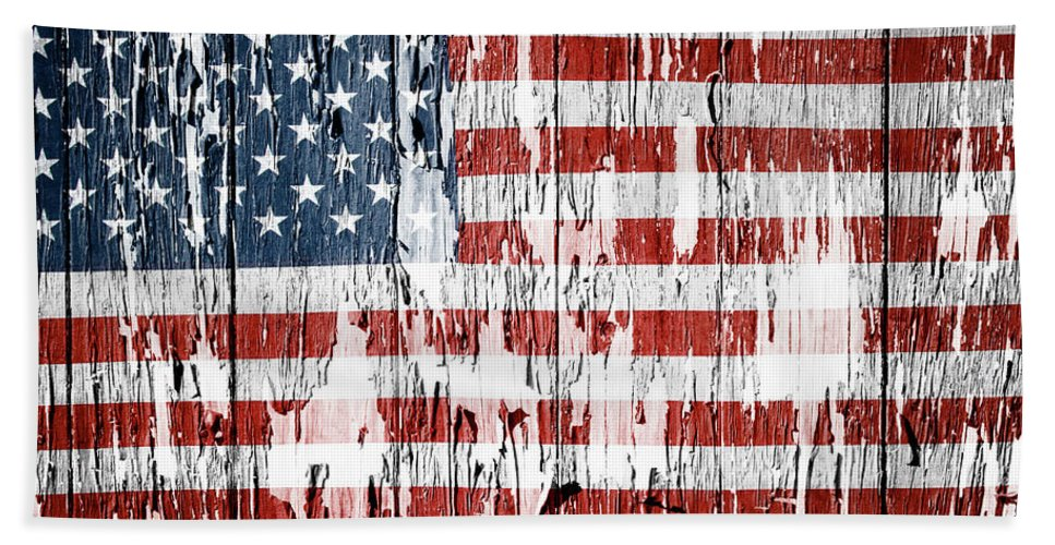 Flag Hand Towel featuring the photograph American Flag 49 by Les Cunliffe