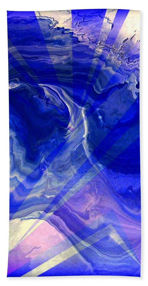 Abstract Bath Sheet featuring the painting Abstract 36 by J D Owen