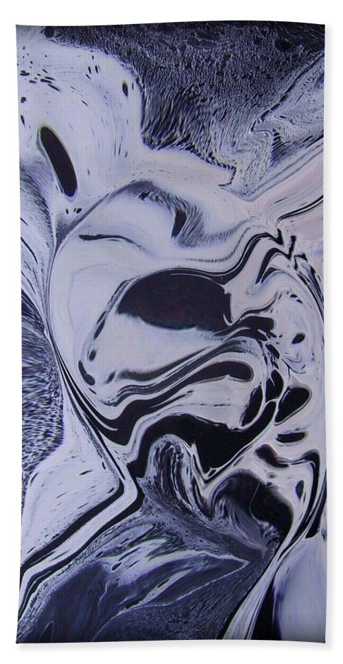 Abstract Bath Sheet featuring the painting Abstract 56 by J D Owen