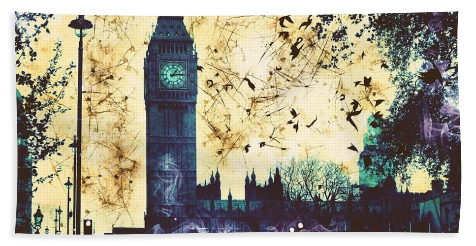 Big Ben Hand Towel featuring the digital art Big Ben by Marina McLain