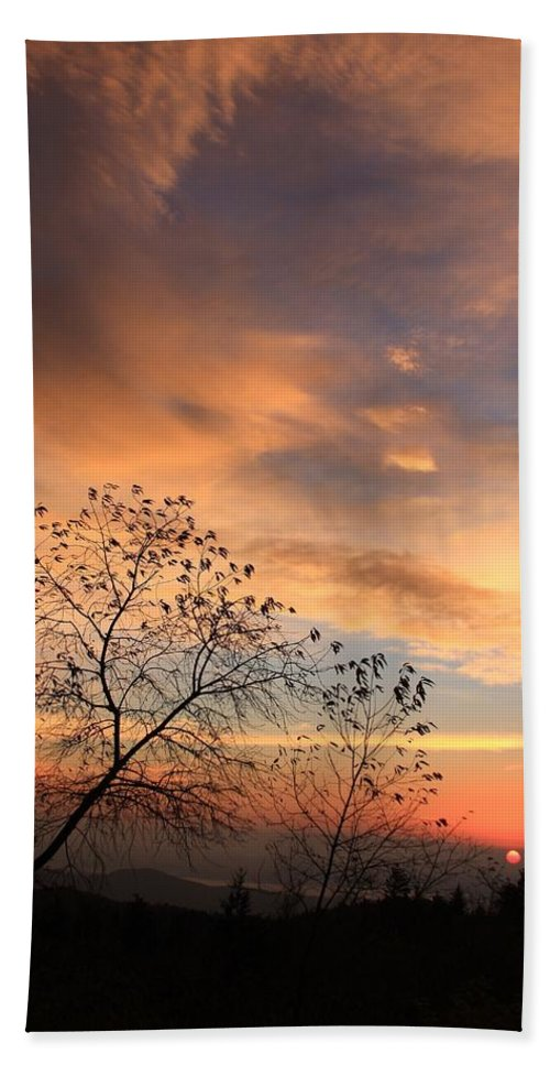 Michael Weeks Hand Towel featuring the photograph Blue Ridge Sunrise by Mountains to the Sea Photo