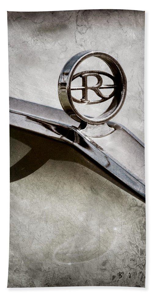 Buick Riviera Hood Ornament Hand Towel featuring the photograph Buick Riviera Hood Ornament by Jill Reger