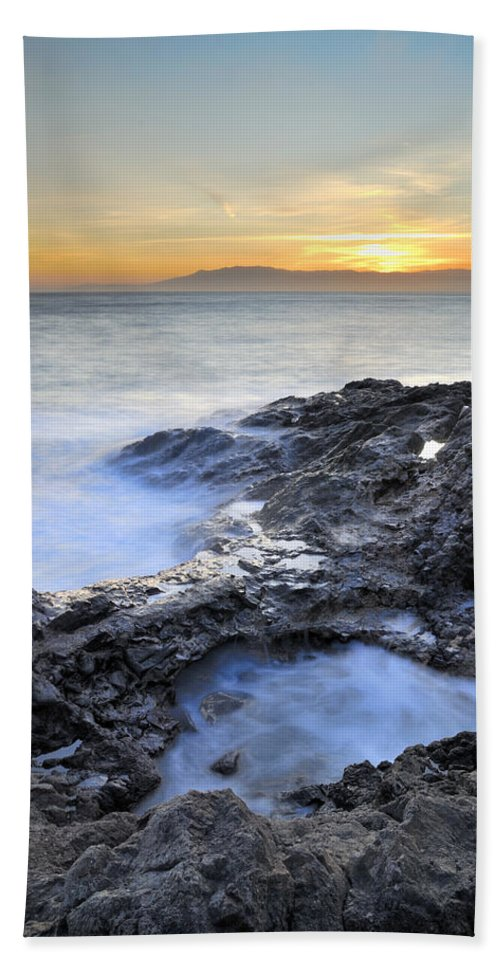 Seascape Bath Sheet featuring the photograph Cabo De Gata by Guido Montanes Castillo
